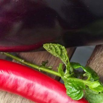 Gegrilde aubergines met feta, munt en rode peper_2