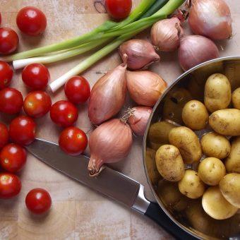 Geroosterde groenten met cannellinibonen