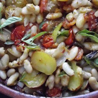Geroosterde groenten met cannellinibonen_2