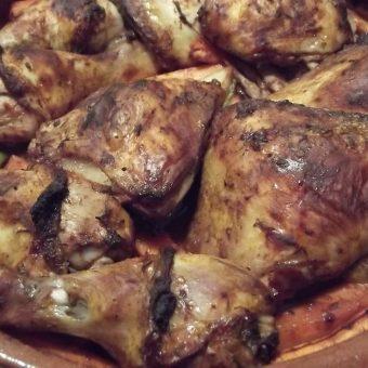 Geroosterde kip met rode wijn_2
