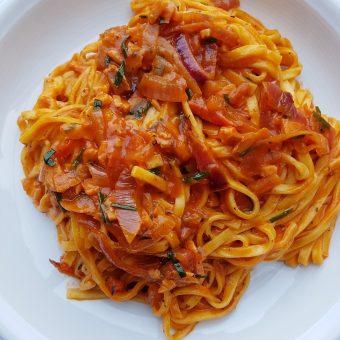 Taglierini met zalm en tomaat_2