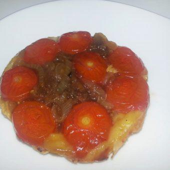 Tarte Tatin met tomaten en uiencompote_2