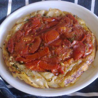 Tomaten-pesto tatin