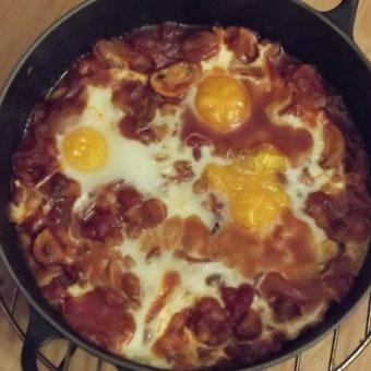 Witte bonen met ontbijtspek en ahornsiroop_2