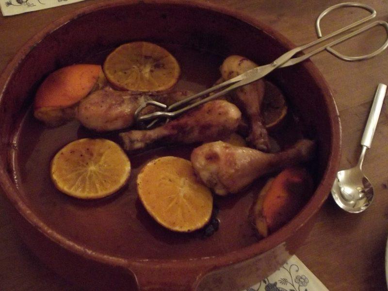 drumsticks met sinaasappel