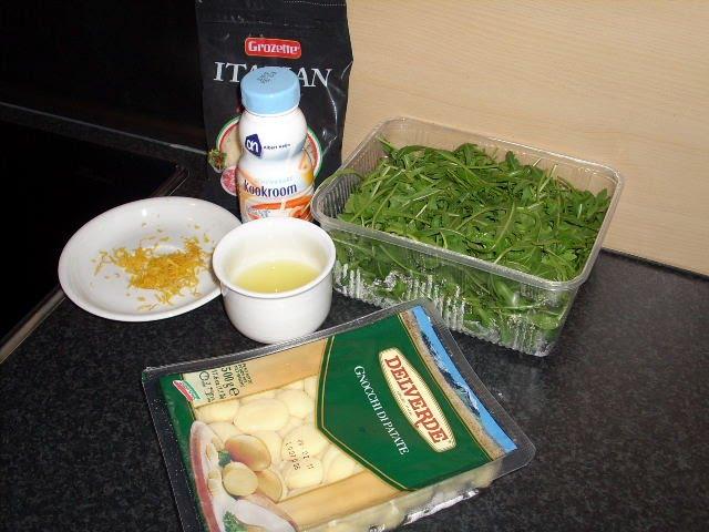 gnocchi met citroen en rucola