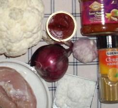 oosterse bloemkool met kerrie kokos en chutney