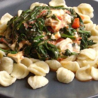 pasta-met-spinazie-en-geitenkaas