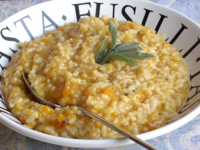 risotto met pompoen en salie