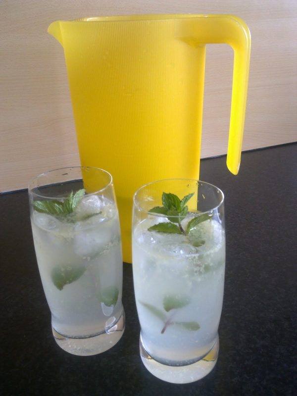 verfrissend zomerdrankje met gember en munt