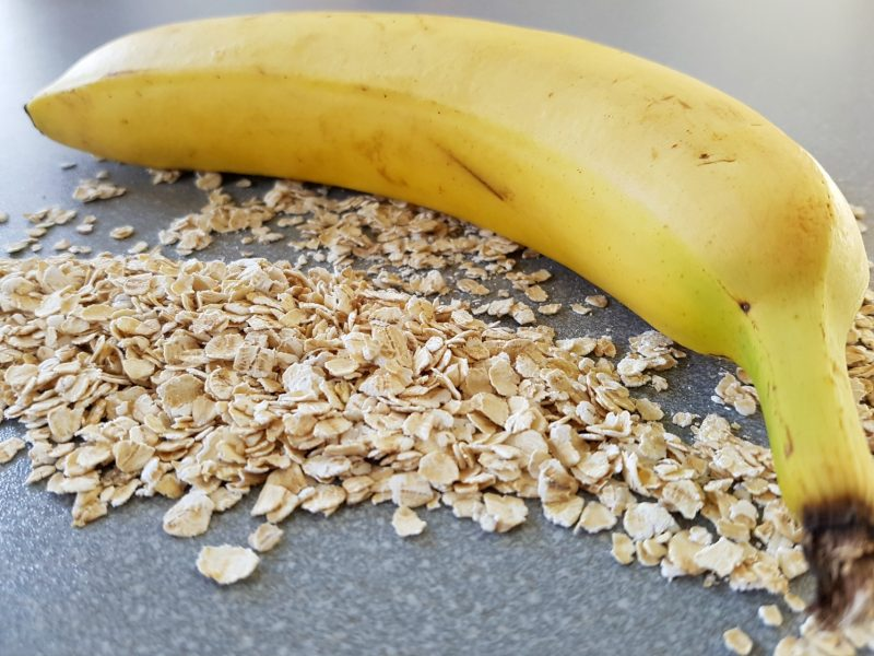 Chocolade-banaan granola