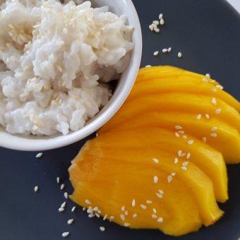 Sticky rice met mango