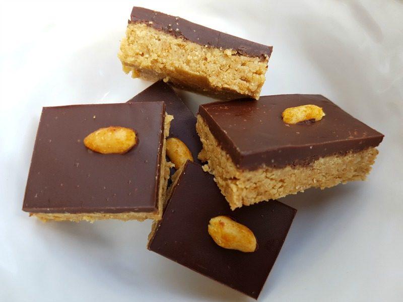 Pindakaas-chocolade blokjes