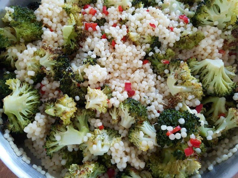 Citruskip met broccoli-parelcouscous