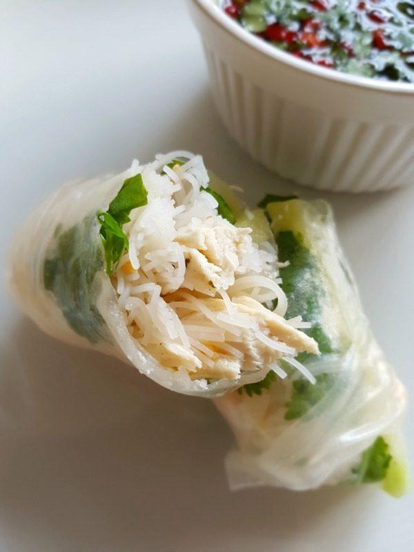 Spring rolls met kip
