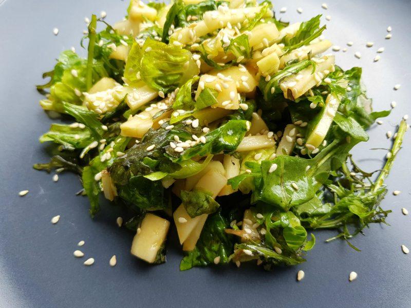 Salade van koolrabi