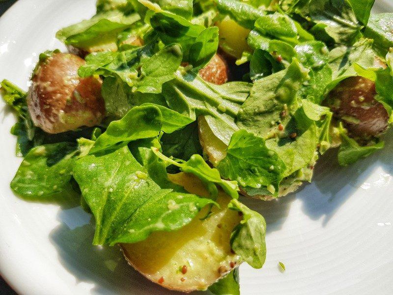 Waterkers-aardappelsalade