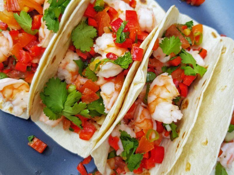 Taco's met gamba's